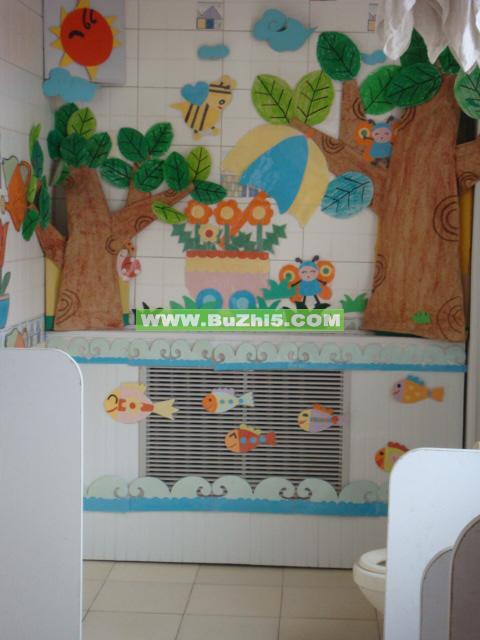 幼儿园盥洗室布置图片大全