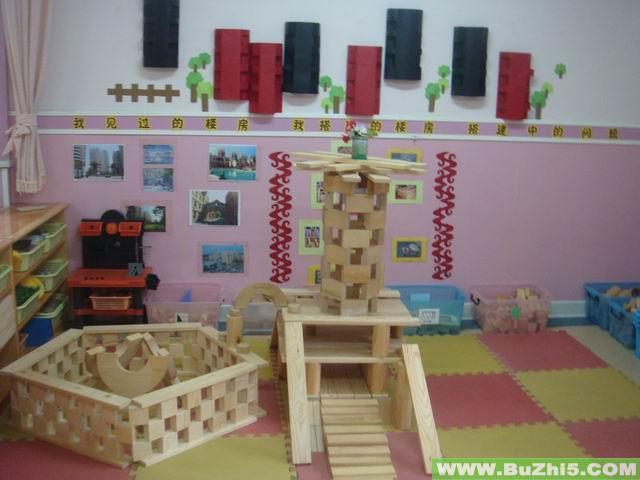 幼儿园小班活动区布置:建筑区之积木经典作品