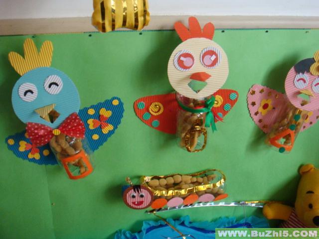 幼儿园活动区布置图片:小鸟吃虫;;; 幼儿园区域布置; 幼儿园环境布置