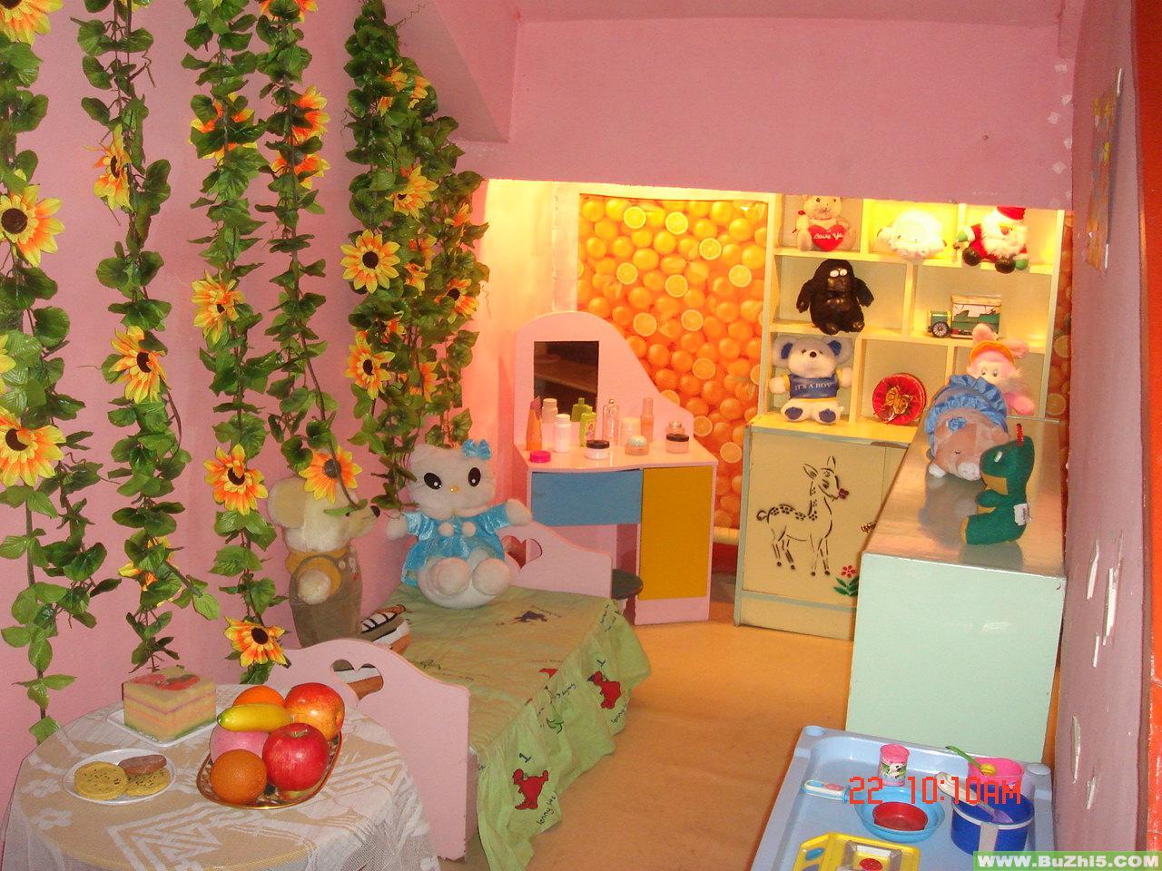 娃娃家之植物吊饰中班活动区布置