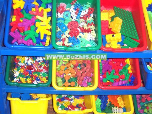 塑料积木图形活动区布置图片