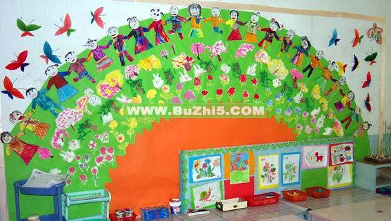 幼儿园美工区环境布置