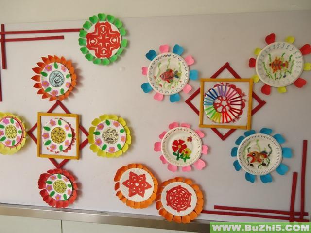 家园共育栏; 展示栏; 幼儿园创意美术主题墙饰; 幼儿作品展示2; 海底