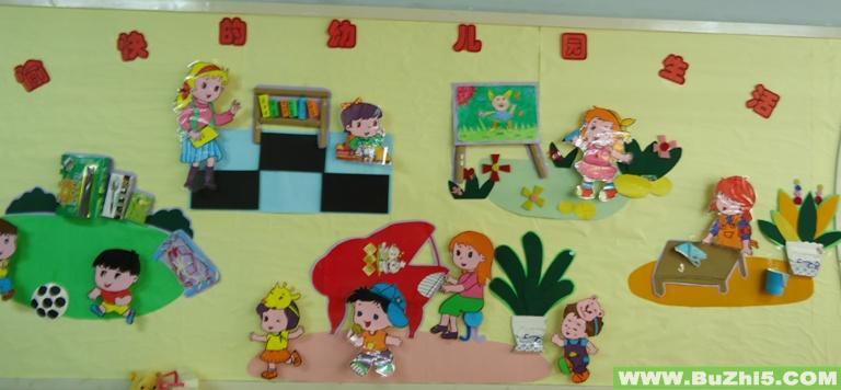 幼儿园美术作品展板面设计图展示