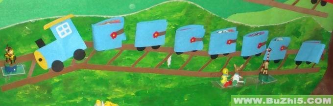 小火车互动墙饰图片