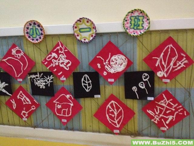 幼儿园作品墙面设计图展示