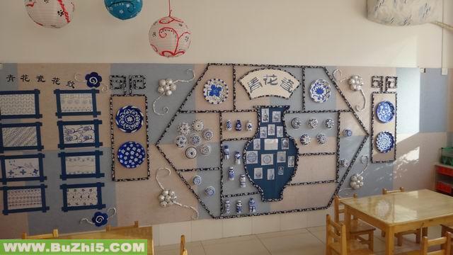 幼儿园墙面布置图片 幼儿园大班墙饰布置