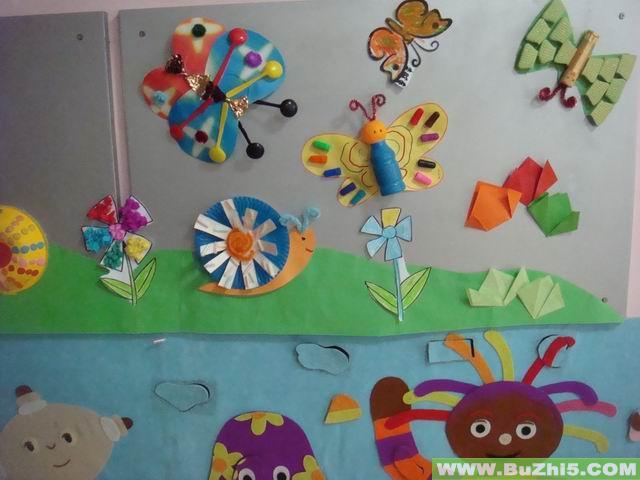 幼儿园墙面布置  蝴蝶找花中班墙面设计图片(第3页)下载说明:在图片上