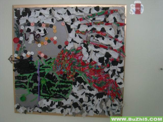 幼儿园墙面艺术作品布置