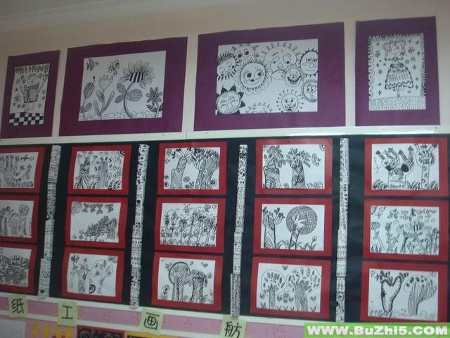 线条画展示墙面设计图片