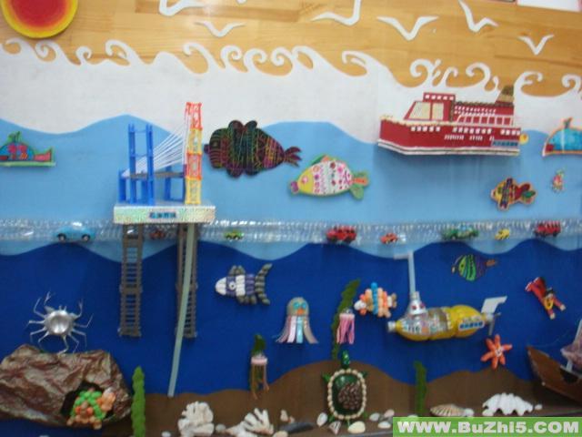 幼儿园海底世界画图片大全 弹琴,创意,绘画,儿童画,幼儿园