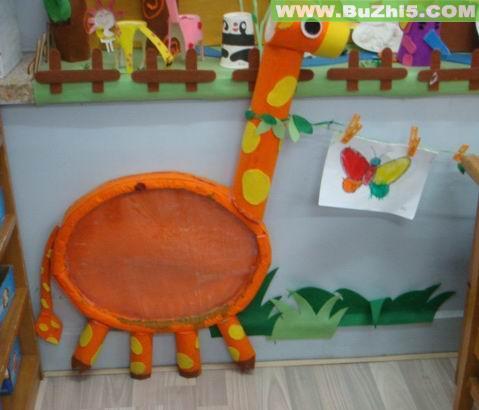 幼儿园墙面布置  长颈鹿小班墙面设计图片(第2页)