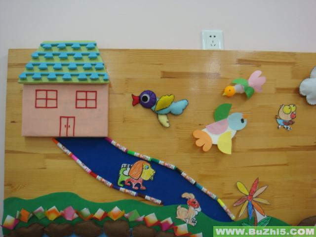 幼儿园秋天走廊墙面设计图片展示