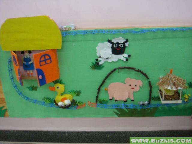 小动物找家墙面设计图片
