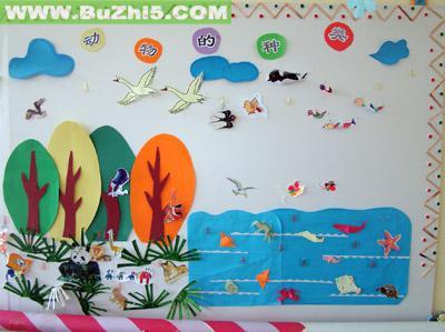动物的种类中班墙面布置图片