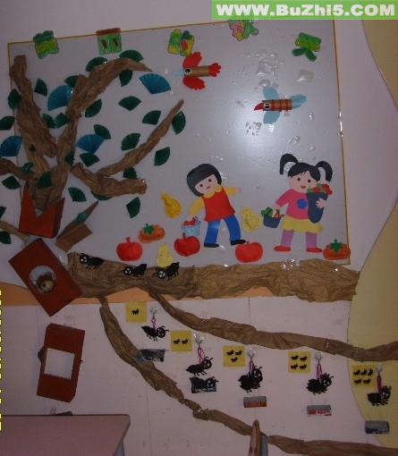 幼儿园墙面布置  美丽的秋天中班墙面图片(第2页)下载说明:在图片上