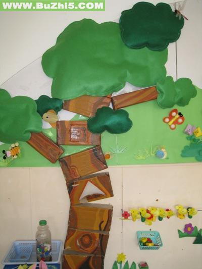幼儿园墙面大树布置图片(第14页)