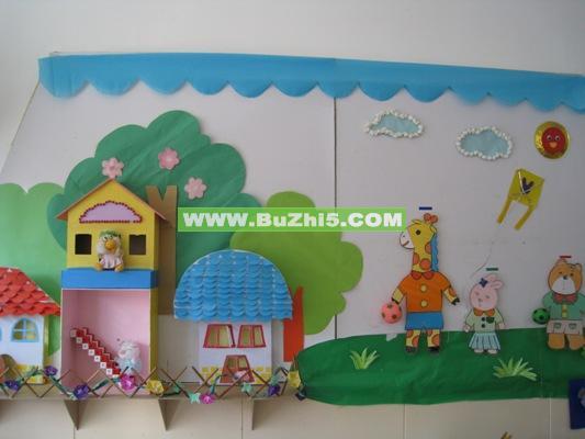 幼儿园墙面布置  小动物的家墙面设计图片(第2页) 热门幼儿园环境布置