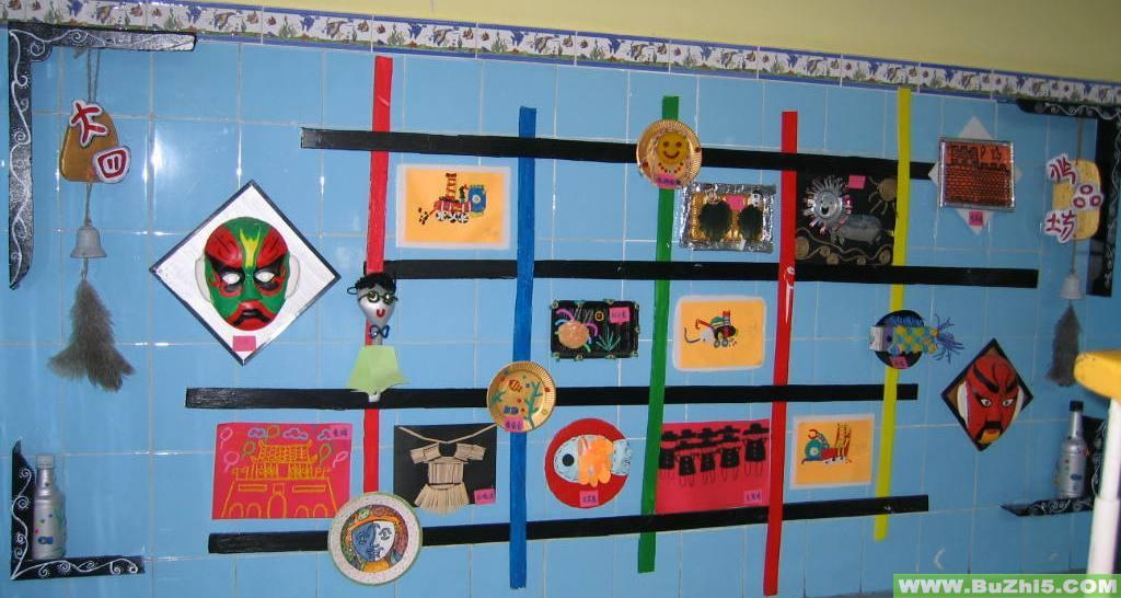 幼儿园墙面美术作品布置