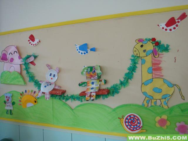 好朋友中班墙面布置图片; 幼儿园墙面环境布置:好朋友1; 幼儿园墙面环