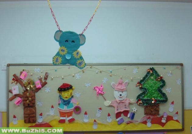 幼儿园墙面布置  圣诞节墙面布置图片下载说明:在图片上点击鼠标右键