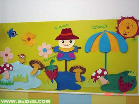 卡通大班墙面设计图片