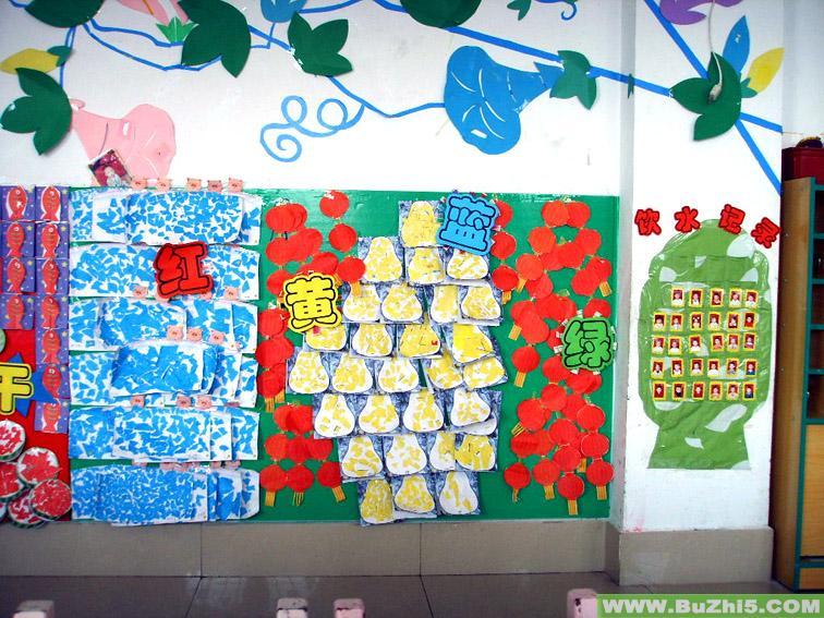 幼儿园中班数学区墙面,幼儿园中班墙面布置图,幼儿园中班墙面设