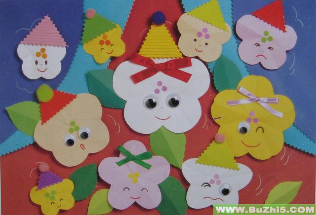 可爱的花宝宝墙面装饰图片