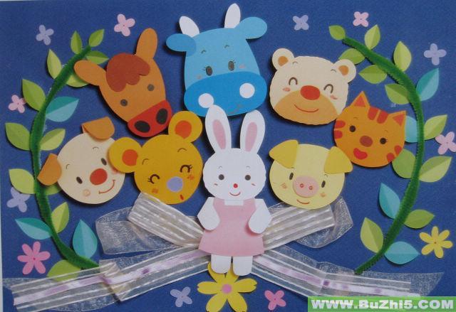 幼儿园墙面布置  好朋友中班墙面布置下载说明:在图片上点击鼠标右键