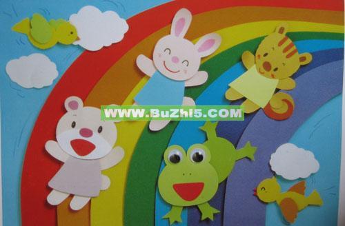 幼儿园小班绘画墙面布置图片_画画大全