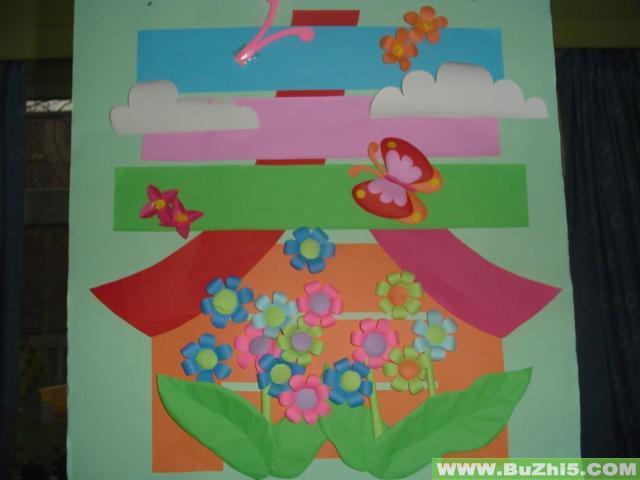 墙面装饰春天环境布置图片