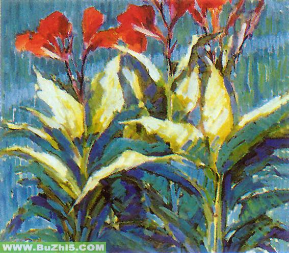 夏天植物墙面装饰画