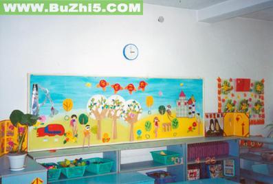 槐柏幼儿园大班墙面布置图片