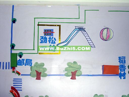 幼儿园地图墙面布置图片