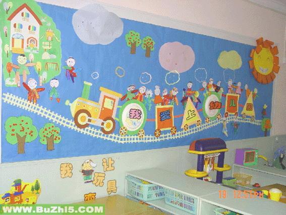 幼儿园墙面设计图片:狮子墙