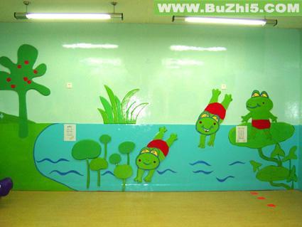 小青蛙图片墙面布置