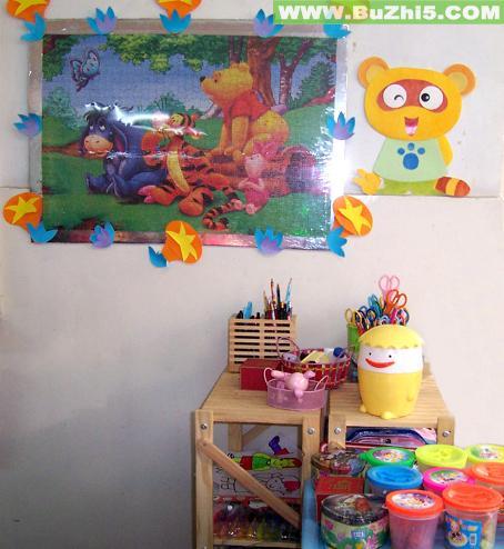小熊装饰画墙面设计图片