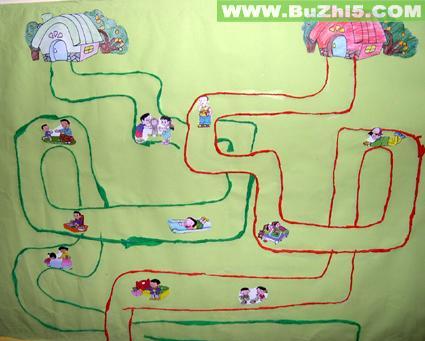 幼儿园墙面家的主题设计