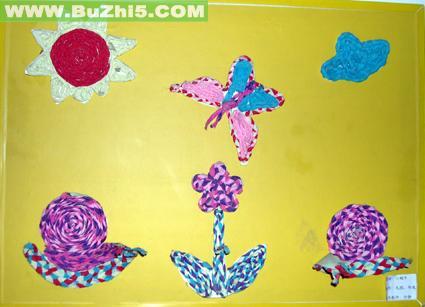 幼儿园墙面绘画作品布置