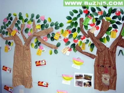 幼儿园墙面大树布置图片(第3页)