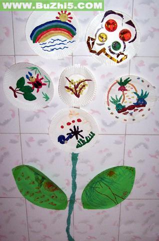 纸盘树墙面设计图片