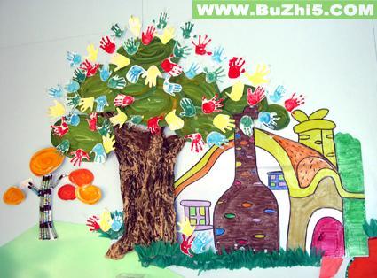 幼儿园小班墙面布置图片