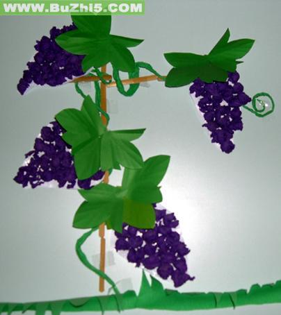 葡萄大班墙面布置图片