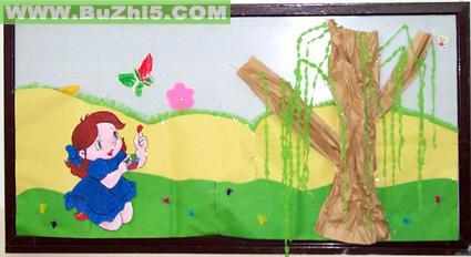 幼儿园春天到了墙面设计图片