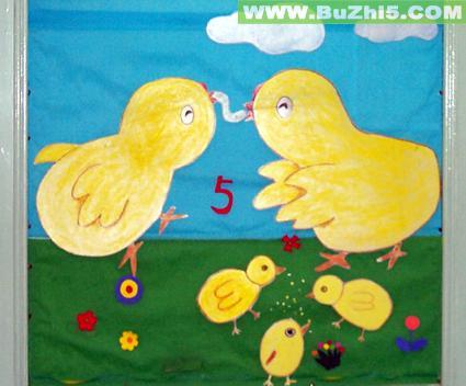 幼儿园墙面小鸡布置图片