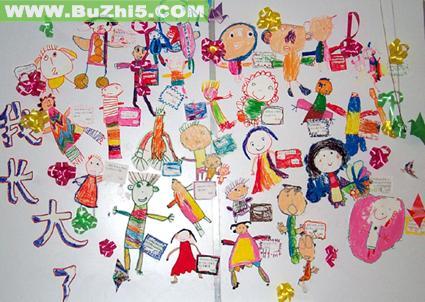 幼儿园墙面布置  我长大了墙面布置图片下载说明:在图片上点击鼠标