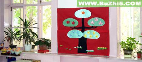 窗边小树小班墙面布置