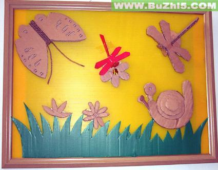 蝴蝶中班墙面布置图片