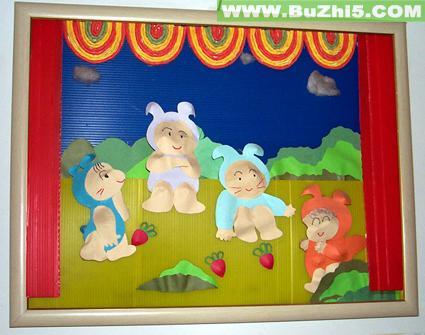 幼儿园墙面布置  动物舞台剧小班墙面布置下载说明:在图片上点击鼠标