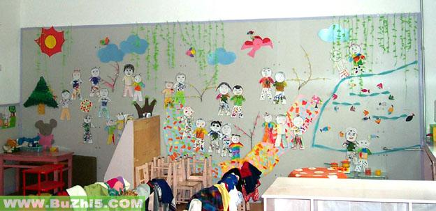 春天的小朋友中班墙面设计图片